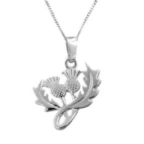 Scottish Thistle Silver Plated Pendant 9172